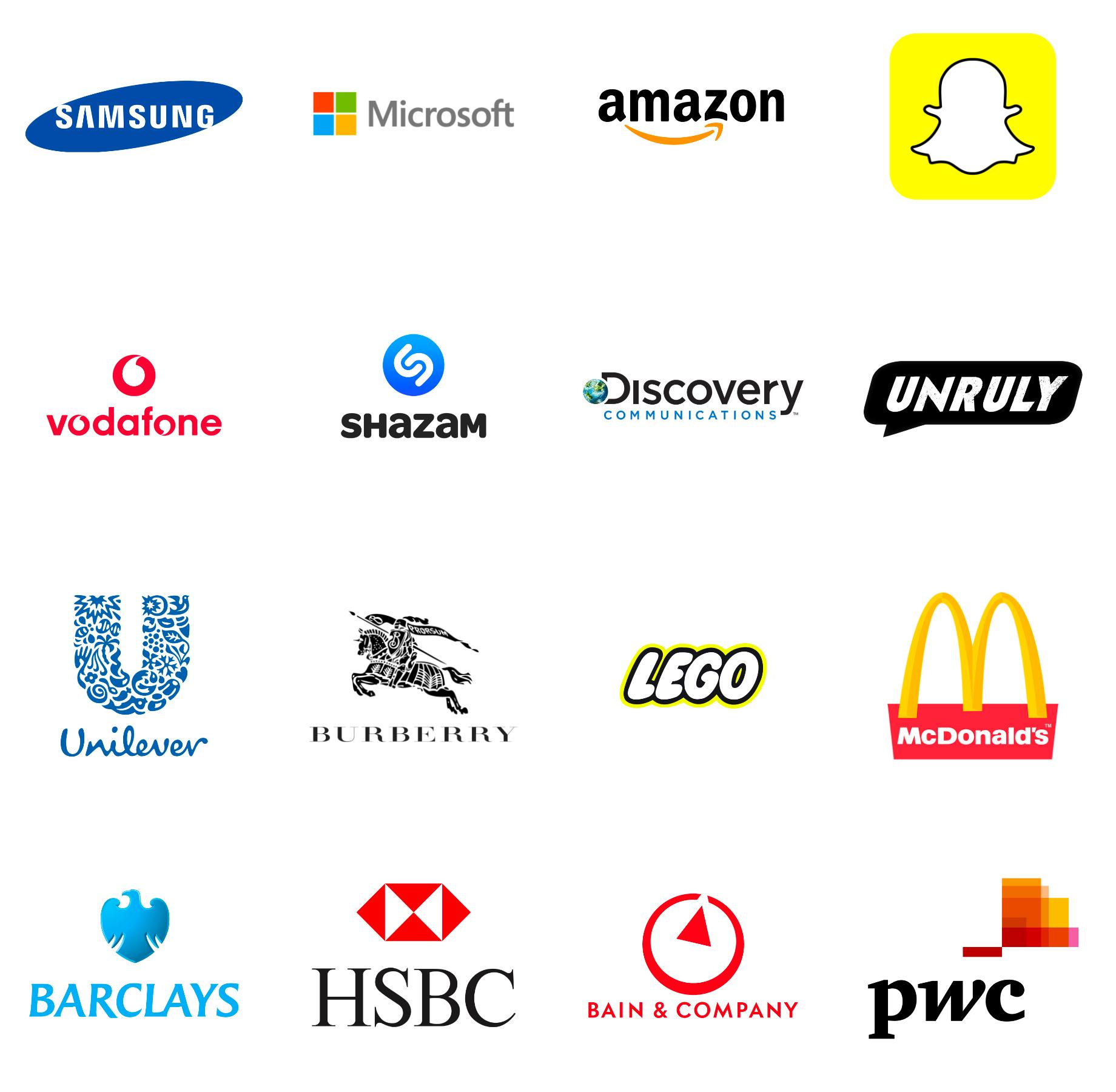 Brands attending VR Marketing London